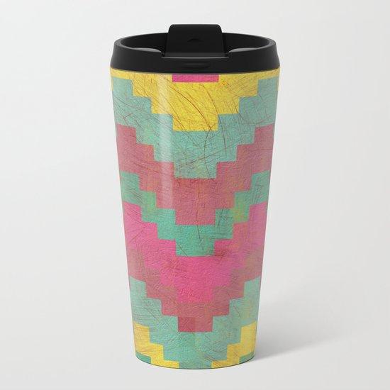 Aztec Vintage Pattern 01 Metal Travel Mug