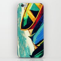 boats iPhone & iPod Skins featuring Boats by Christina Rowe