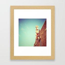 Globe Signage - Bertram, TX Framed Art Print