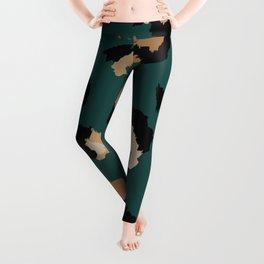 Teal Leopard Print Leggings