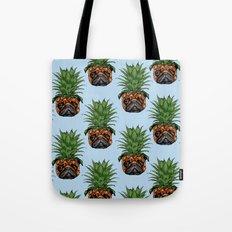 Pineapple Pug Tote Bag