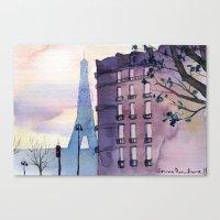 paris Canvas Prints featuring Paris by Emma Reznikova