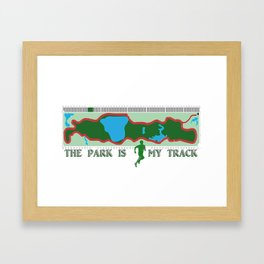 Park is My Track Framed Art Print