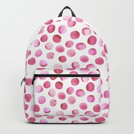 Watercolor Dots // Persian Pink Backpack