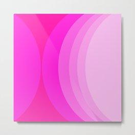 Moons - Pinks Metal Print