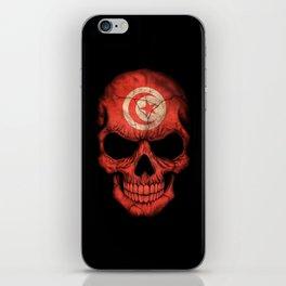 Dark Skull with Flag of Tunisia iPhone Skin