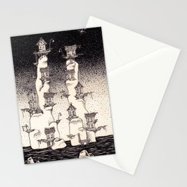 The old towers Stationery Cards