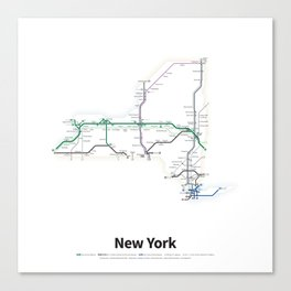 Highways of the USA – New York Canvas Print