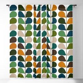 Mid Century Modern Fern Pattern Blackout Curtain
