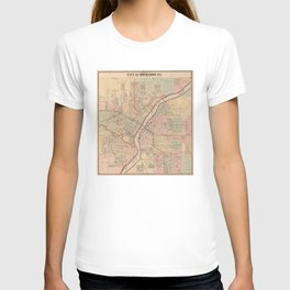 Vintage Map of Rockford IL (1886) T-shirt