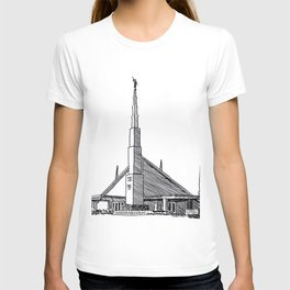 Dallas Texas LDS Temple Ink Drawing T-shirt