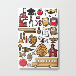 School Days Metal Print