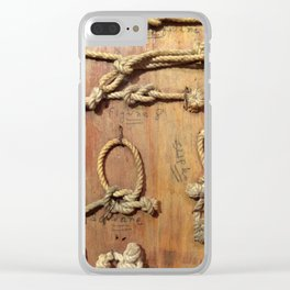 Knots Clear iPhone Case