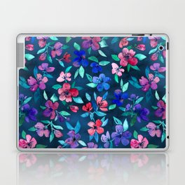 Southern Summer Floral - navy + colors Laptop & iPad Skin
