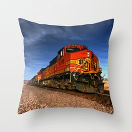 BNSF Freight  Throw Pillow