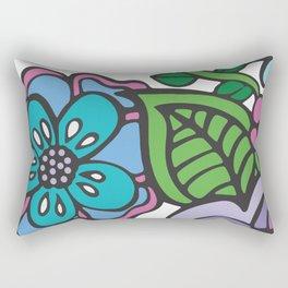 Diving Girl (Purple Palette) Rectangular Pillow