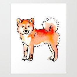 Butterscotch - Dog Watercolour Art Print