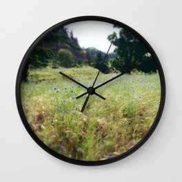 Bachelor's Button in Spring Wall Clock
