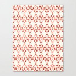 Field Of Daisies Fresh Cream Spring Floral Pattern Design Canvas Print