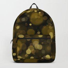 Elegant black gold yellow abstract bokeh pattern Backpack