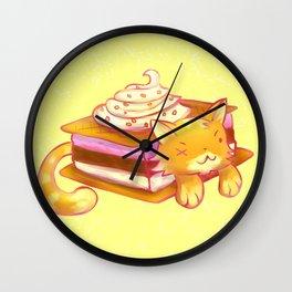 Ice sandwich cat Wall Clock
