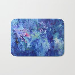 Blue Space Bath Mat