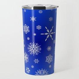 Snow in the Winter Night Travel Mug