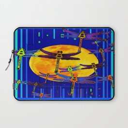Dragonflies Moon Fantasy Blue Art Abstract Laptop Sleeve