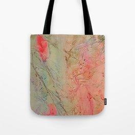 Rainbow Marble Tote Bag