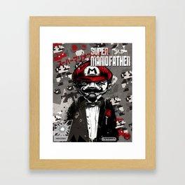 Super Mario Father Framed Art Print