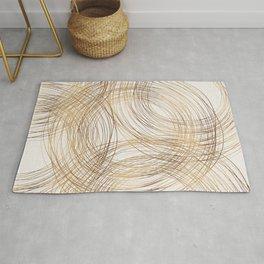 Metallic Circle Pattern Rug