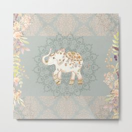 INDIAN ELEPHANT Metal Print