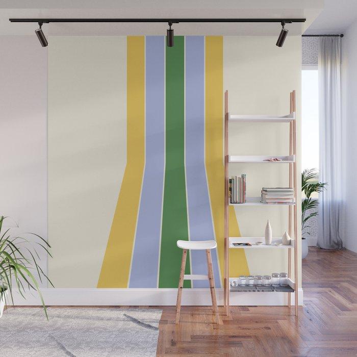 Spring Retro Stripes Wall Mural