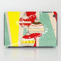 card iPad Cases featuring CHRISTMAS CARD by mark ashkenazi