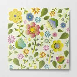 Petty Floral Pattern 2 Metal Print