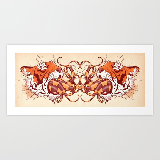 Valley of the Tiger Art Print