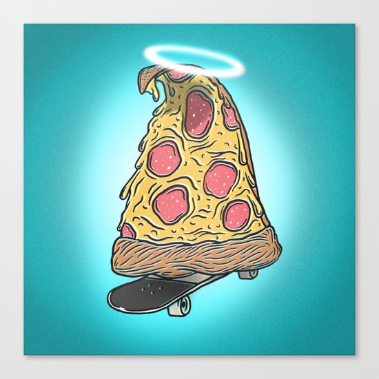 St. Pizza Shreds Canvas Print