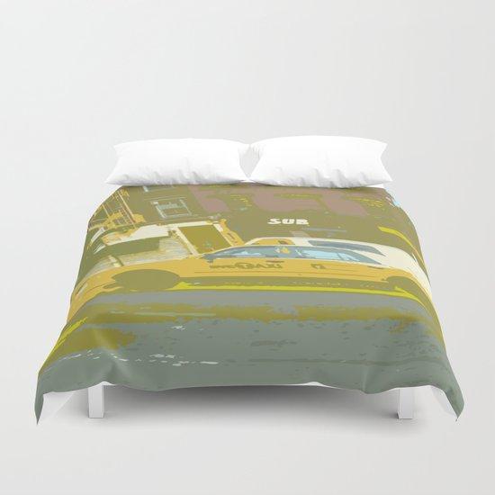 NY#8 Yellow Cab Duvet Cover