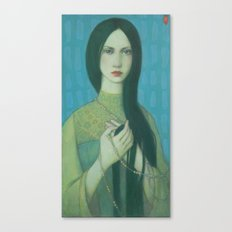 green lady Canvas Print
