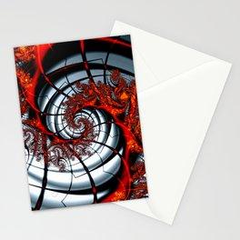 Fractal Art - Burning Web Stationery Cards