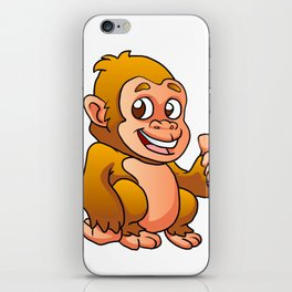 baby gorilla cartoon iPhone Skin