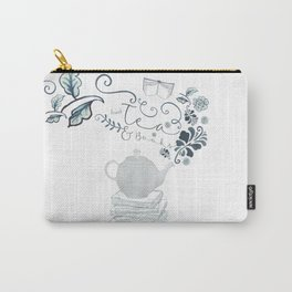 Tea and Books Carry-All Pouch