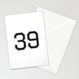 Number 39 American Football, Soccer, Sport Design Stationery Cards