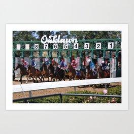 Horse Racing Art Print