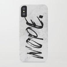 NOPE Marble Quote Slim Case iPhone X