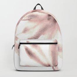 Monochromatic Flower Study Mauve Backpack