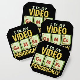 Play Video Games Periodically - All Day Science Illustration Coaster