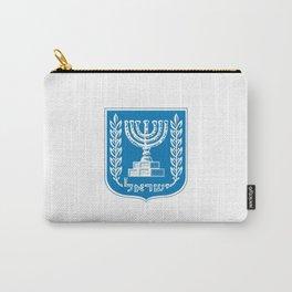 emblem of Israel 1-יִשְׂרָאֵל ,israeli,Herzl,Jerusalem,Hebrew,Judaism,jew,David,Salomon. Carry-All Pouch