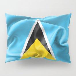 Saint Lucia Flag Pillow Sham