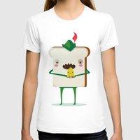 peter pan T-shirts featuring Peter pan and tinkerbell by Maria Jose Da Luz